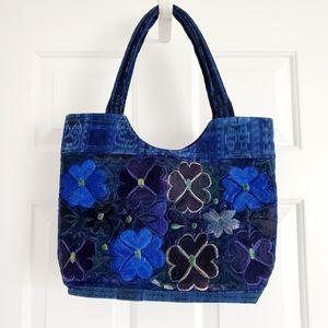Handbags - Ethnic Flowers Boho Hobo Embroidered Bag